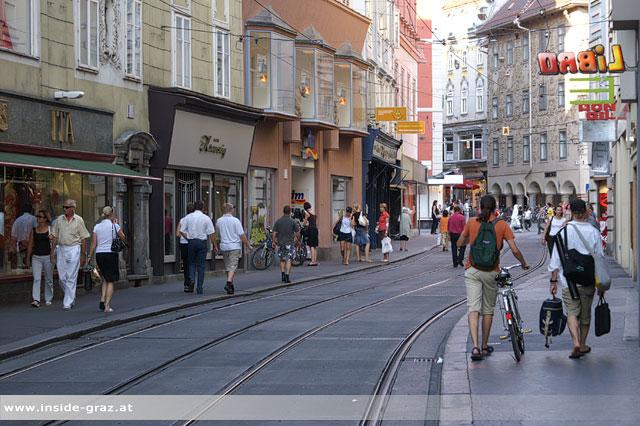 Passantenzählung in der Grazer Innenstadt