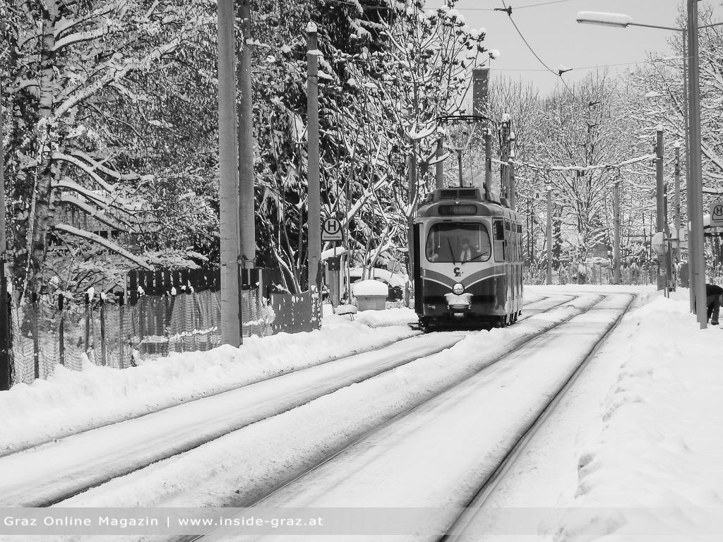 Winter Graz Straßenbahn