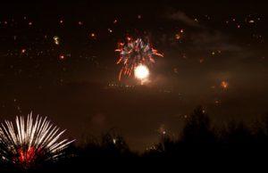 Silvesterfeuerwerke über Graz