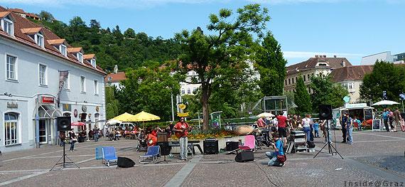 Musik beim Lendwirbel am Mariahilferplatz