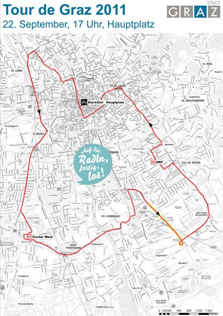 Tour de Graz Tourverlauf