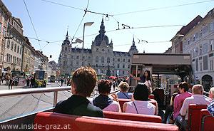 Cabriobus Grazer Rathaus