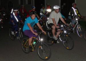 Radfahrer in der Nacht