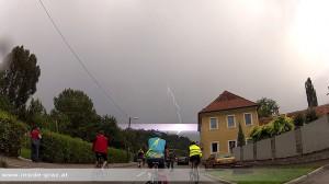 Radfahrer beim CityRadeln - Blitz