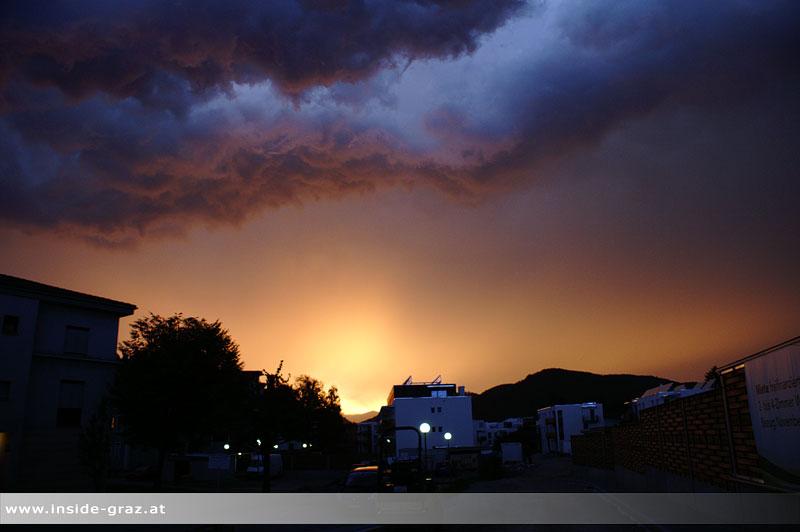 Wolkenstimmung Sonnenuntergang Graz