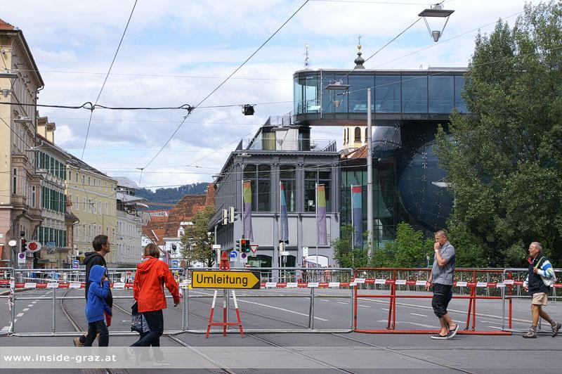 Aktuelle Hochwassersituation in Graz