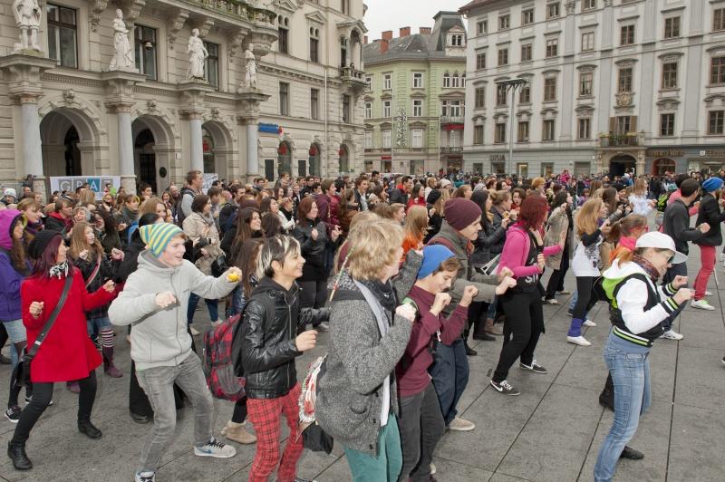 Gangnam Style Flashmob am Grazer Hauptplatz