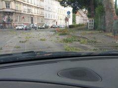 Graz Sturm Orkan Glacis