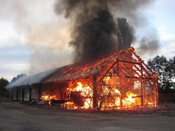Lagerhallenbrand auf Reininghausgründen: Brandstiftung vermutet