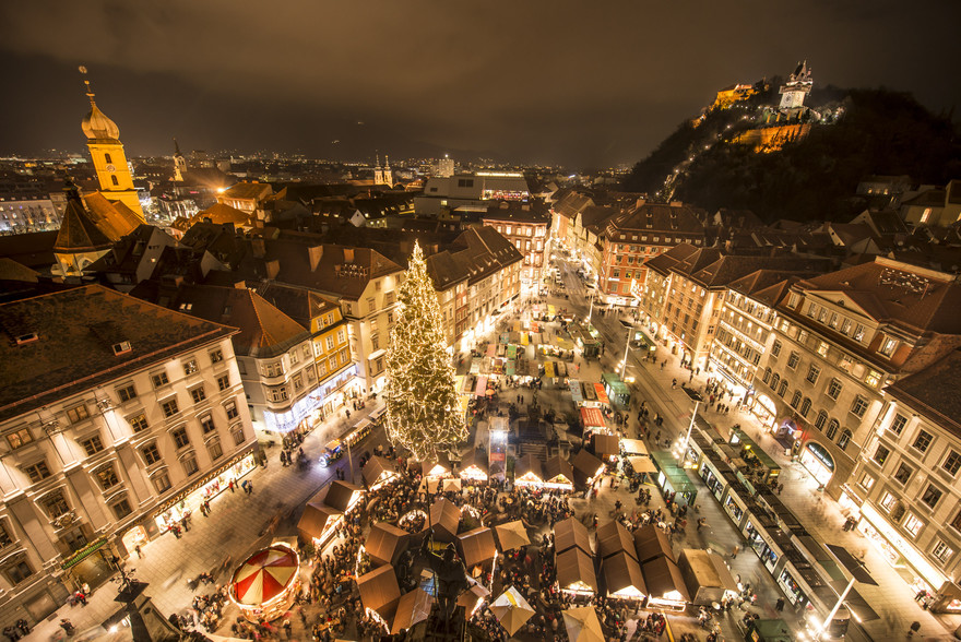 Christkindlmarkt Hauptplatz Graz Advent