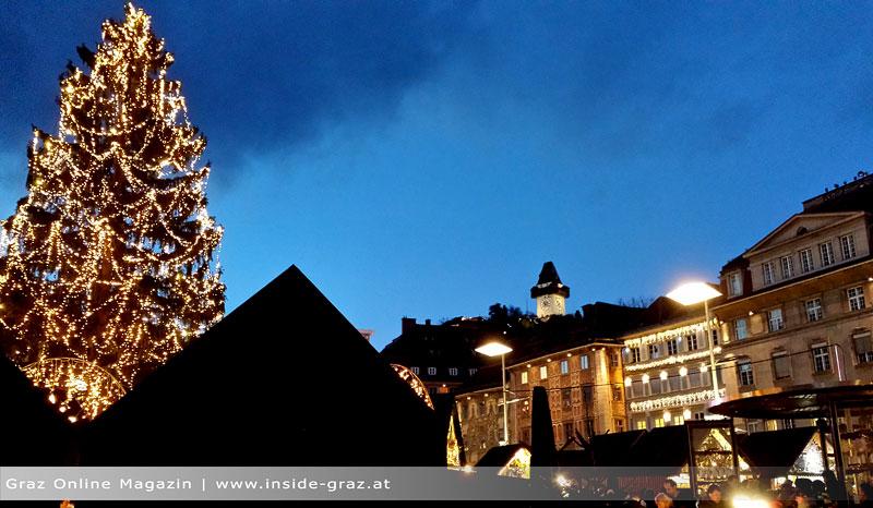 Weihnachtsbaum Hauptplatz Graz