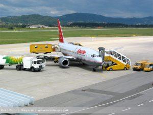 Anreise Stadthalle Graz Flugzeug