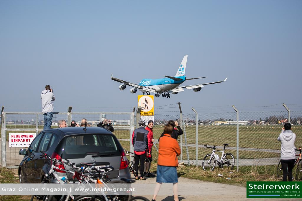 Landung Boeing 747 Graz Spotter