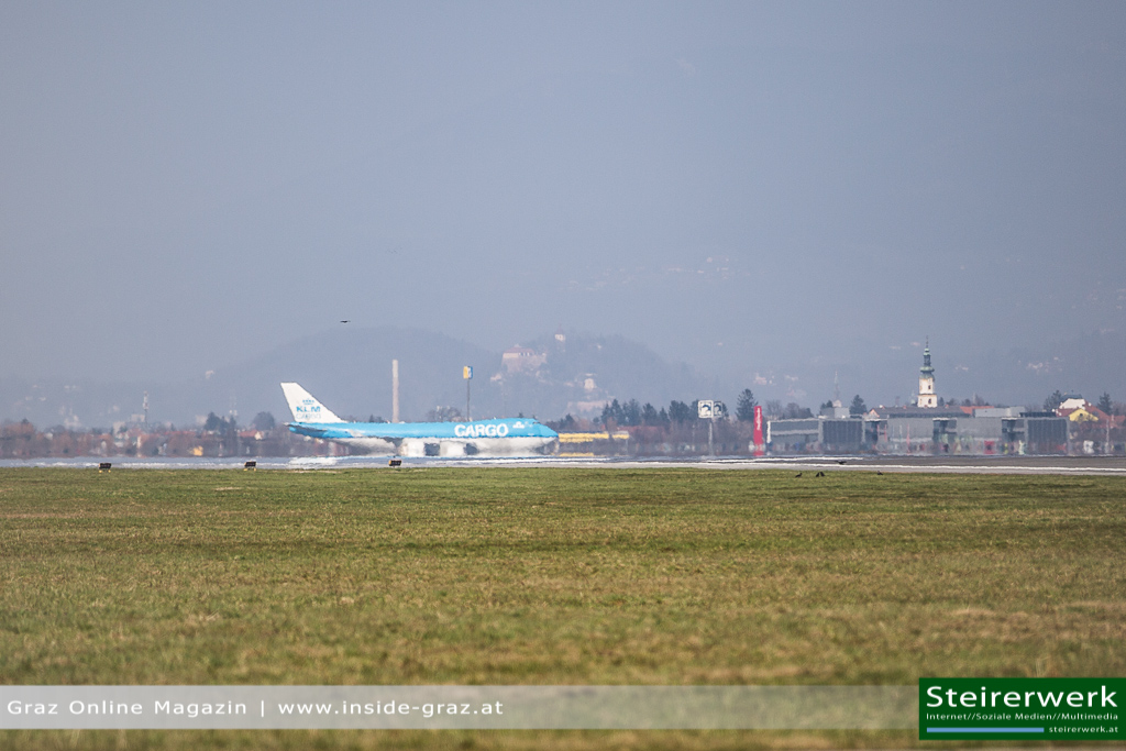 Flugzeug 747 Graz Schloßberg Flughafen