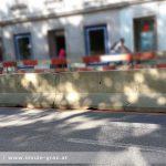 Baustelle Glacis im Sommer: Dauer-Stau erwartet