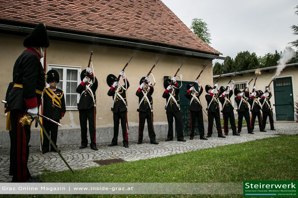 Schloßbergfest Bürgergarde Gewehre