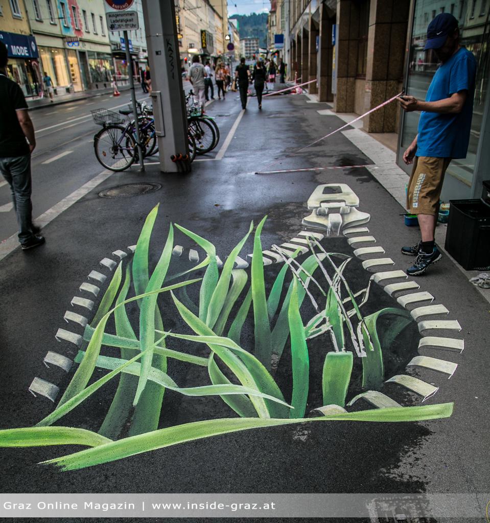 3D Strassenmalkunst
