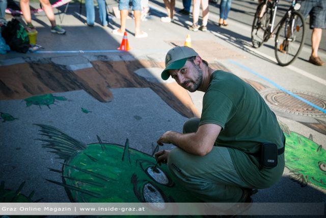 Annenstraße Straßenmalerei 3D
