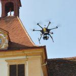 Drohne über dem Schloss Eggenberg