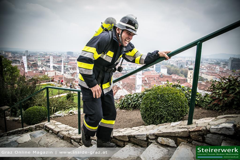 Feuerwehrmann Schloßberg Stiegenlauf