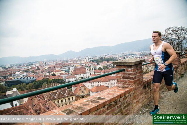 Sportler Schloßberg Stiegenlauf