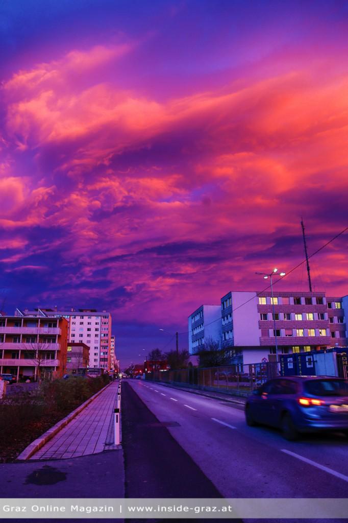 Brennender Himmel Graz