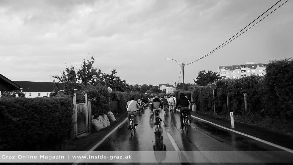 Radfahren Regen