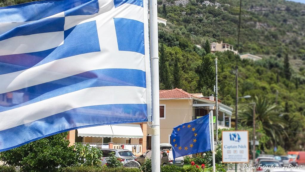 EU Griechenland Fahne
