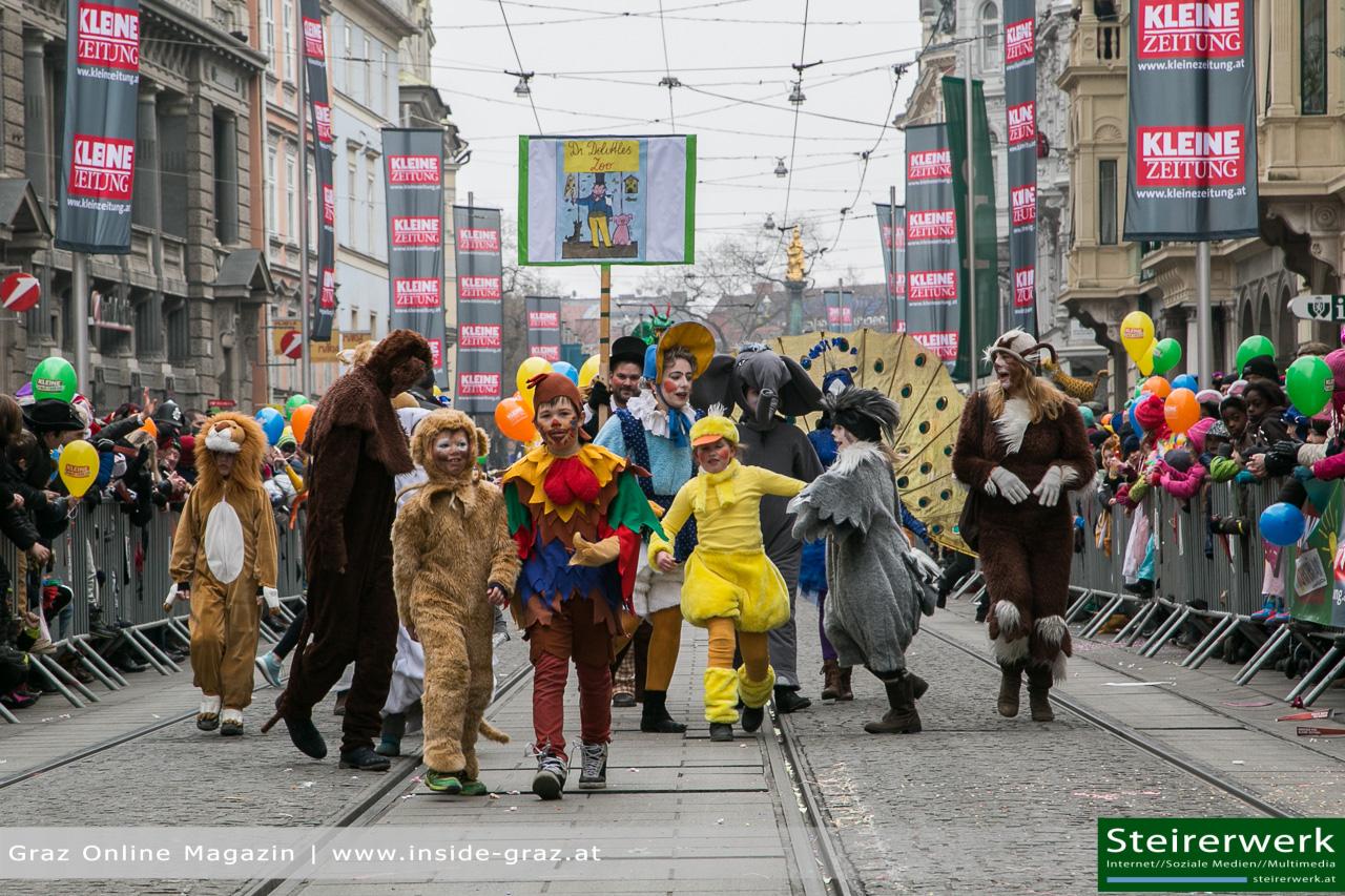 Faschingsumzug Graz 5 3 2019 Kinderfasching Schienenersatzverkehr