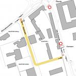 Verlegung der Alte Poststraße wegen Baubeginn in Graz-Reininghaus
