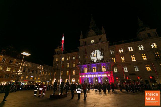 Flaggenparade Graz Nationalfeiertag
