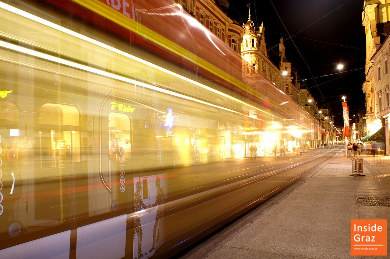 Strassenbahn in der Herrengasse