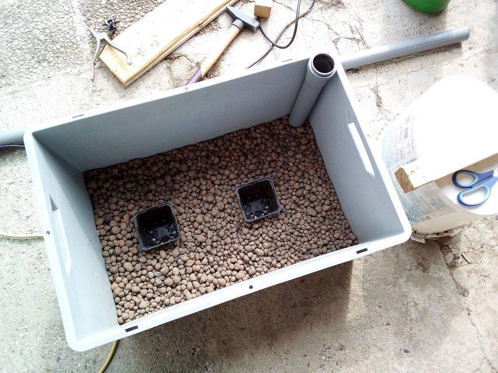 Wasserspeicher für Pflanzenkübel selber machen