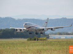 Putin Präsidentenmaschine Flughafen Graz
