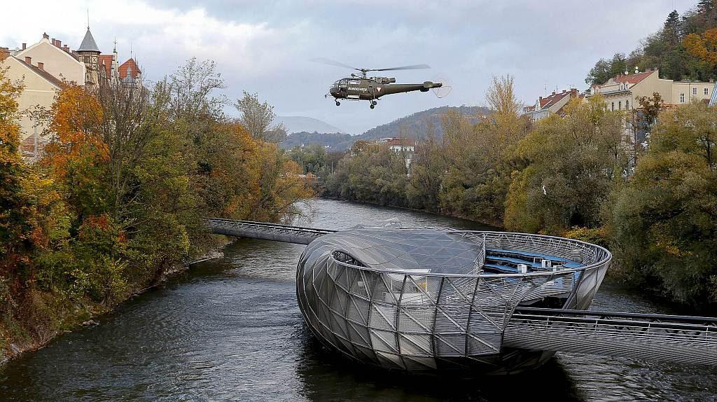 Bundesheer Hubschrauber Murinsel