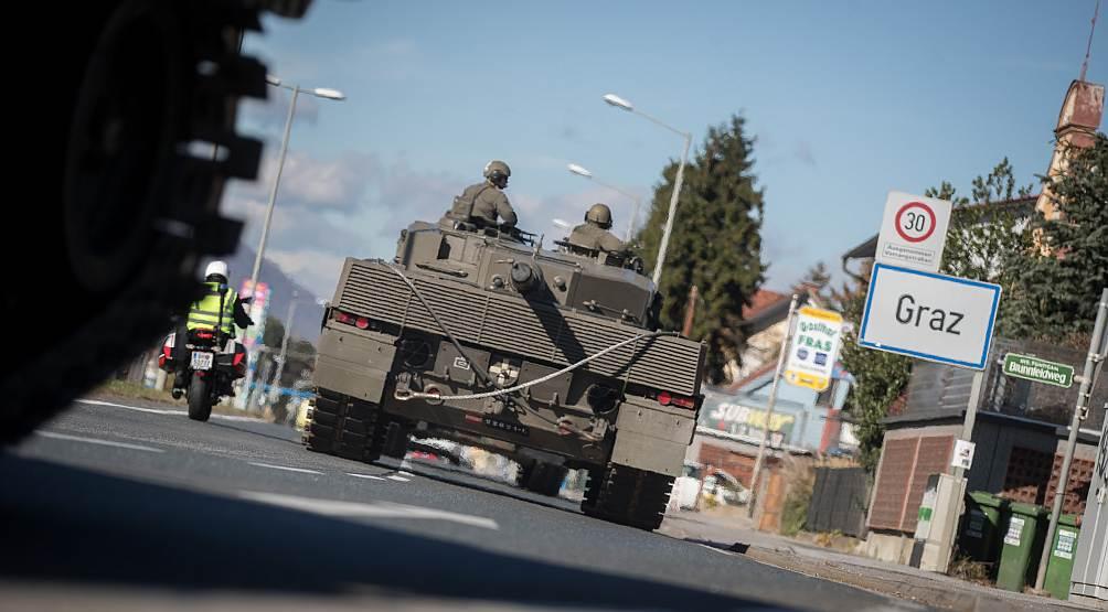 Panzer rollt nach Graz