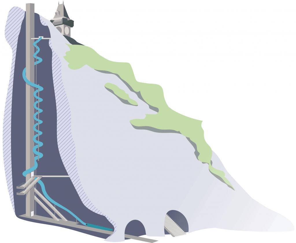 Schlossbergrutsche Grafik