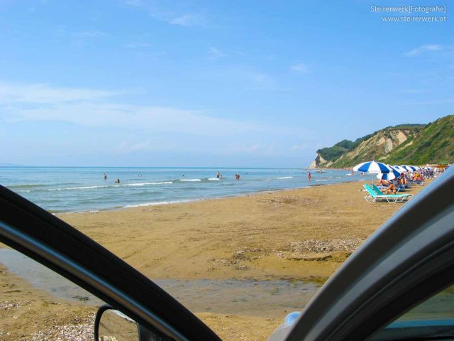 Auto Urlaub Strand