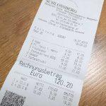 Schlossberg Restaurant Rechnung