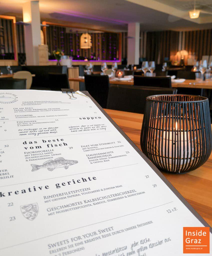 Speisekarte Schlossberg Restaurant