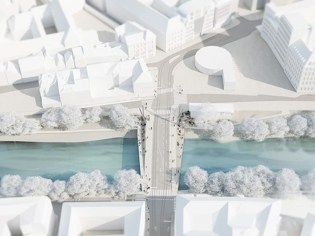 Tegetthoffbrücke Architektur Entwurf