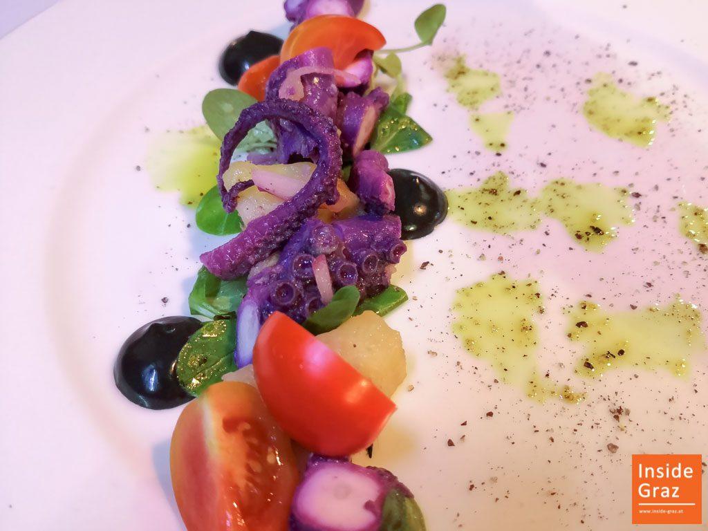Oktopus Salat im Kornati