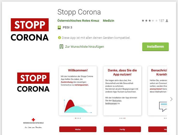 Corona App österreich
