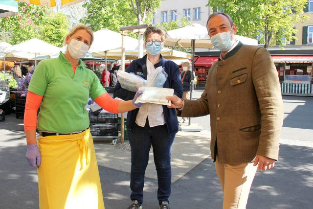 Schutzmasken für Grazer Bauernmärkte
