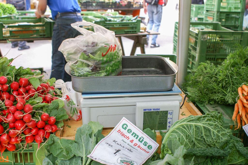 Preise am Bauernmarkt