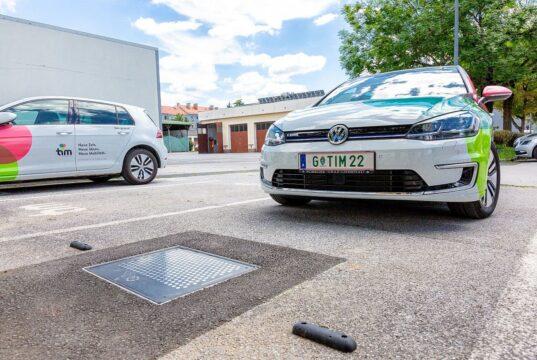 E-Auto laden in der Stadt