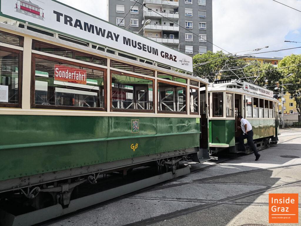 Oldtimer Tramway in der Remise