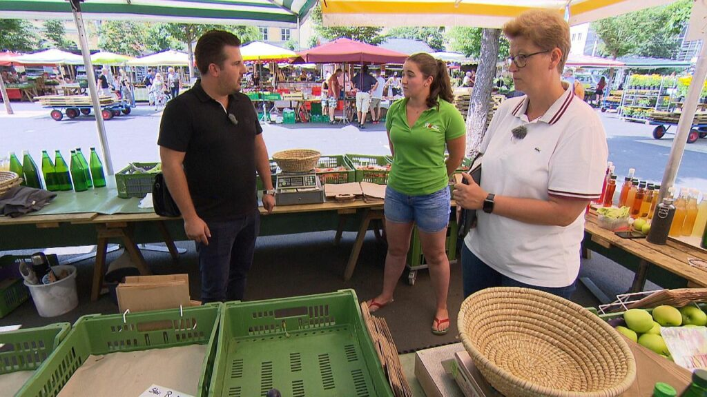 Bauernmarkt Lebensmittelkontrolle ATV