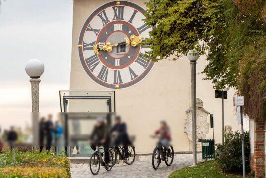 Radfahrer am Schloßberg