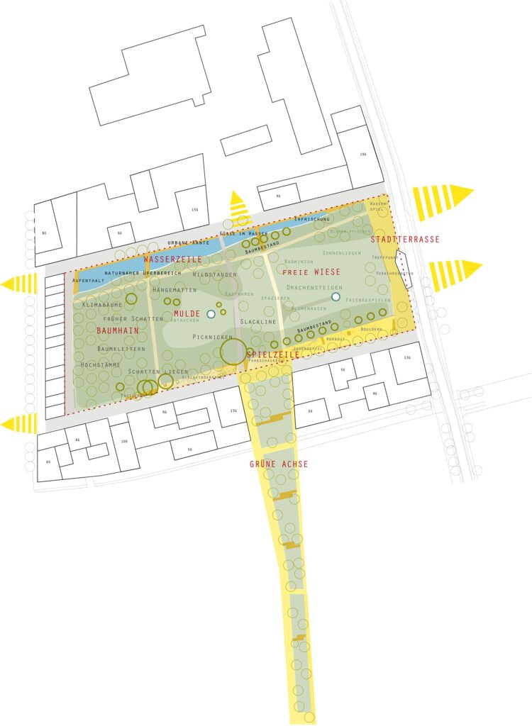 Plan vom Reininghaus Park
